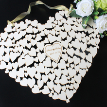 Personalized 3D Wedding Guest Book,Wooden Hearts Book,Rustic Heart Shape Guestbook for Engagement,Wedding Decor