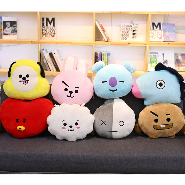 21b6dd6aeb76 New Kpop ARMY Bangtan Boys BTS BT21 Vapp Pillow Warm Bolster Cute Plush  Doll Korean KOYA TATA COOKY CHIMMY VAN SHOOKY RJ MANG