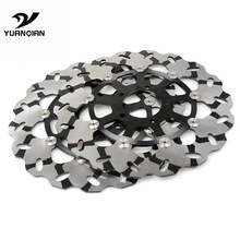 2PCS High Quality CNC Motorcycle Front Floating Brake Disc Rotor For SUZUKI GSXR1300  gsxr 1300 1999-2007 2pcs motorcycle front floating brake disc rotor for suzuki gsxr1300 hayabusa 1300 gsxr 1300 2008 2015 2010 2011 2012 2013 2014