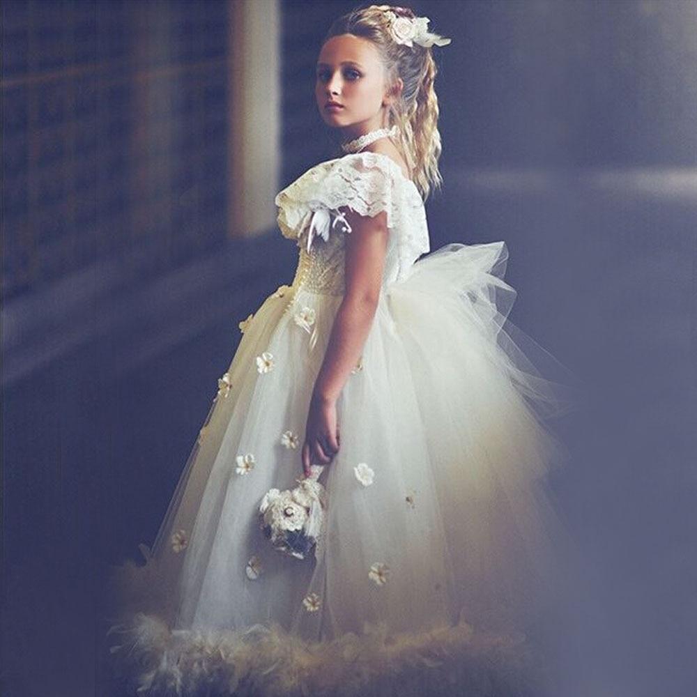 fabulous robe de bal fille ruffles little girl dress. Black Bedroom Furniture Sets. Home Design Ideas