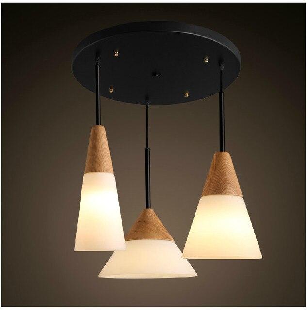 scandinavian pendant lights oak glass iron dinning room pendant
