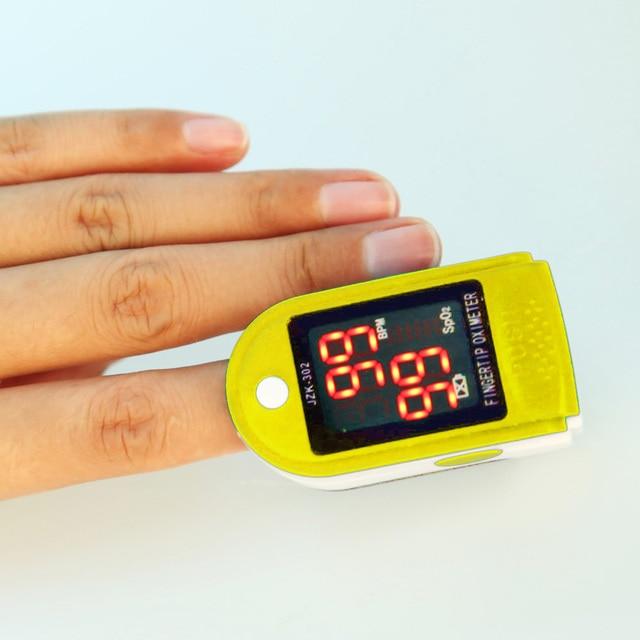 Digital LED Fingertip Pulse Oximeter Blood Oxygen SPO2 PR Monitor Blood Oxygen Pulse Monitor Test Visual Alarm Home Health Care