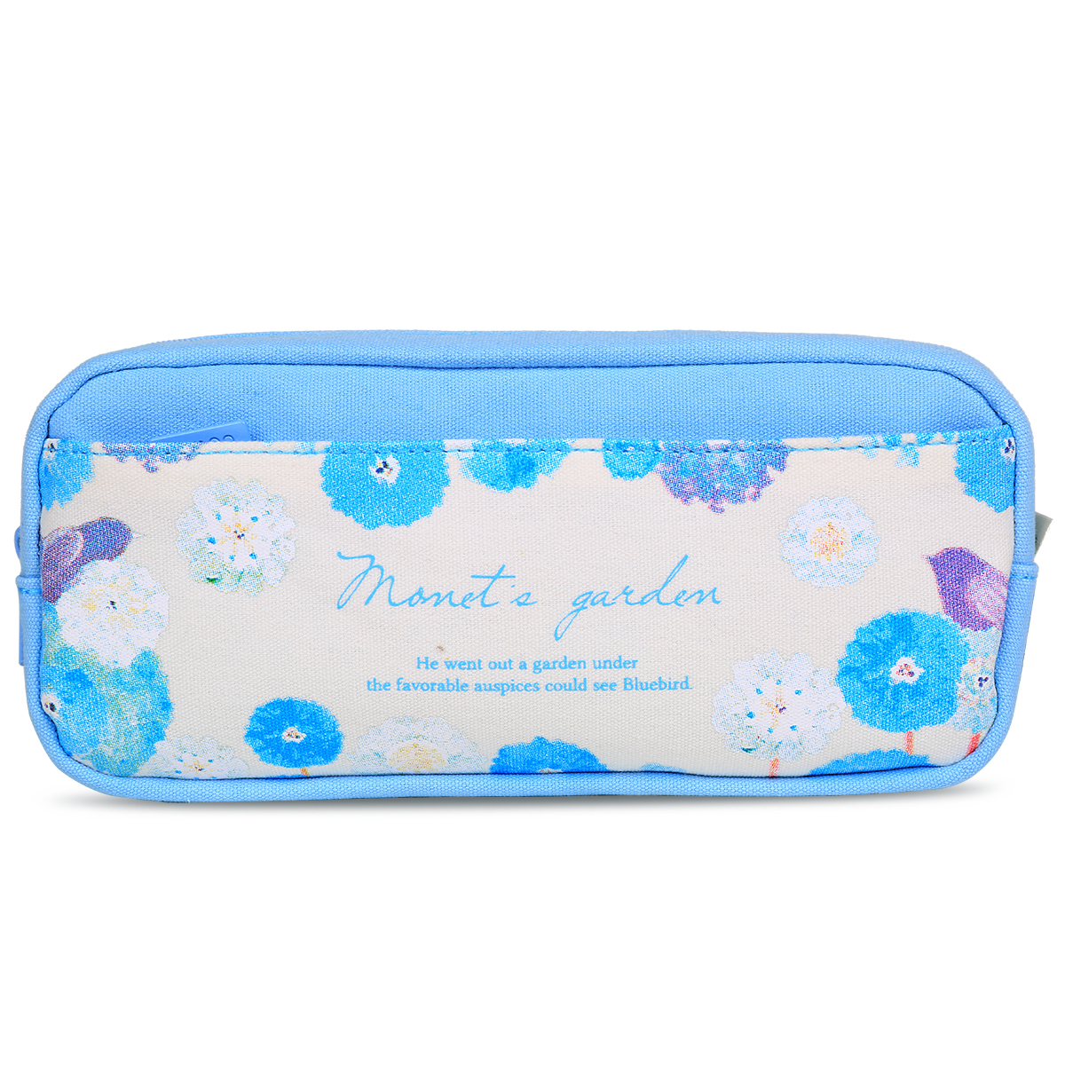 Hot Selling 1pc/lot Blue and Red Floral Pencil Case Large Capacity Canvas Zipper Pen Bags for Girls School Supplies Stationery kawaii pink sweet girl pencil case school large capacity pencil bag leather for girls pen box stationery supplies accessories