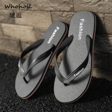 WHOHOLL Summer Flip Flops Men Beach Flip-flops Men Leather Slippers Casual Summer Shoes Fashion Men's Sandals Flat Heels