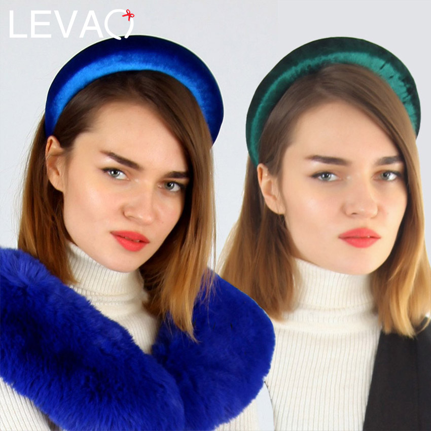 Levao Thick Velvet Women Padded Headbands Hair Accessories Head Band Fashion   Headwear   Wide Plastic Hairbands For Woman