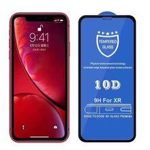 200 個 10D フル接着剤強化ガラスカバレッジ画面 0.3 ミリメートル保護プロテクターフィルムのための iphone 11 プロ XS XR