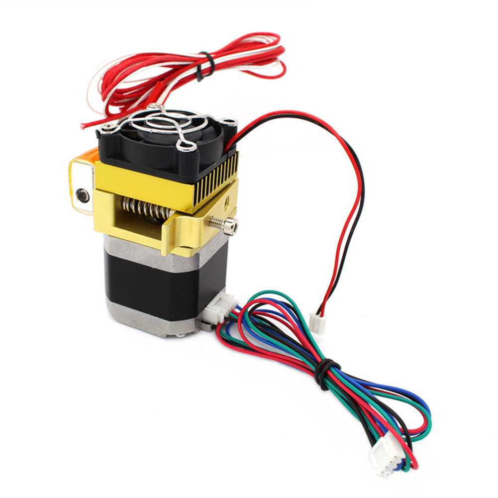 3D Printer Color Extruder 12V Nozzle MK8 Extruder Print Head for 3D Printer stepper motor yaosheng 3dhf 001 iron cleaning drilling head bit for 3d printer nozzle silver