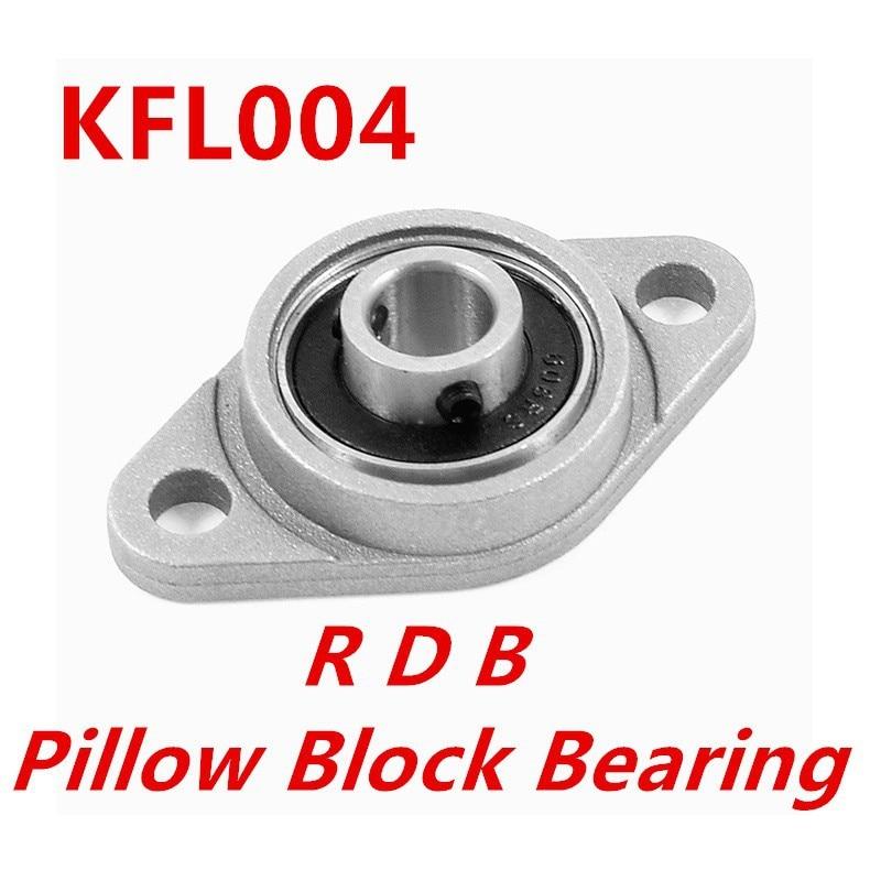 1Pcs 20mm FL004 Shaft Support Flange Pillow Block Bearing
