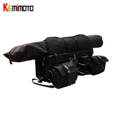 KEMiMOTO Four Wheels Snowmobile ATV Cargo Rear Rack Gear Bag Luggage Set Foldable Storage Bag Black