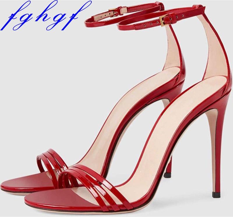 Alto Toe Cielo Mujeres Fghgf Boda rosado Rojo Zapatos Gladiador Sandalias Mujer Negro Sexy Tacón S rojo Nuevo azul De Negro Peep Verano 77qwH8C