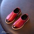 YNB 2016 Новый Осень Дети PU Мартин Сапоги Мальчики Девочки Моды Ботинки с Боковой Молнии Дети Одиночные Обувь Девочек Принцесса Обувь