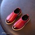YNB 2016 Nuevos Niños Del Otoño de LA PU Martin Botas Niños Niñas Moda Botines con Cremallera Lateral Niños Solos Zapatos Niñas Zapatos de La Princesa