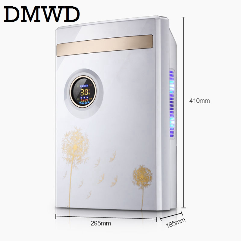 DMWD Portable Electric Dehumidifier 1080ml/day household mute air dryer cleaner Moisture Absorbing Intelligent LED air purifier