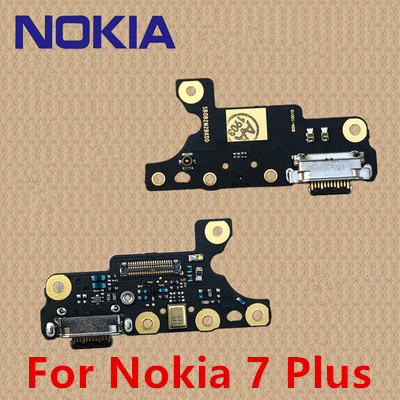 100% Original For Nokia 7 Plus OEM Charging Port PCB Board USB Charging Dock For Nokia X7 X6 6.1 7 .1 7 PLUS For Nokia 6 7 8