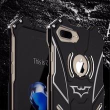R-JUST Batman phone case for iPhone 7 7 Plus 5 5S 6 6S 6 plus cover ultra thin metal aluminum Fundas Coque brand case