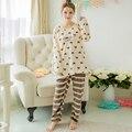 New winter good quality pregnant pajamas flannel maternity clothes set coral fleece maternity pajamas nightwear sleepwear plus