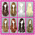 MCOSER 16 Colors new high temperature resistant multi color 70cm/60cm  Lolita long curly hair COSPLAY party wigs Free shipping