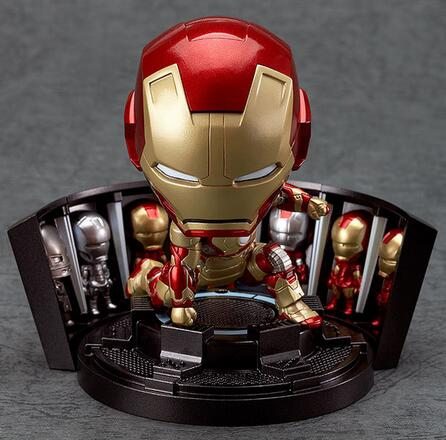 Super Hero Iron Man 3 Mark 42 Tony Stark Set Cute 10CM PVC Action Figure Collection Model Toy #349 Free Shipping 324 free shipping cool big 12 justice league of america jla super man superman movie man of steel pvc action figure collection toy