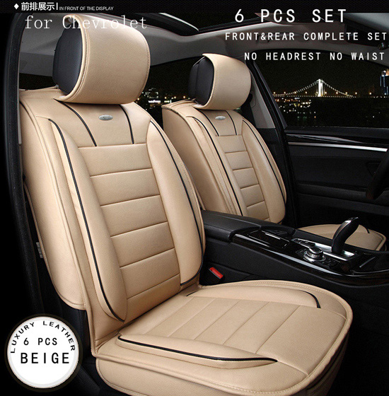 for chevrolet cruze aveo sail malibu luxury brand soft leather car seat cover front and rear. Black Bedroom Furniture Sets. Home Design Ideas
