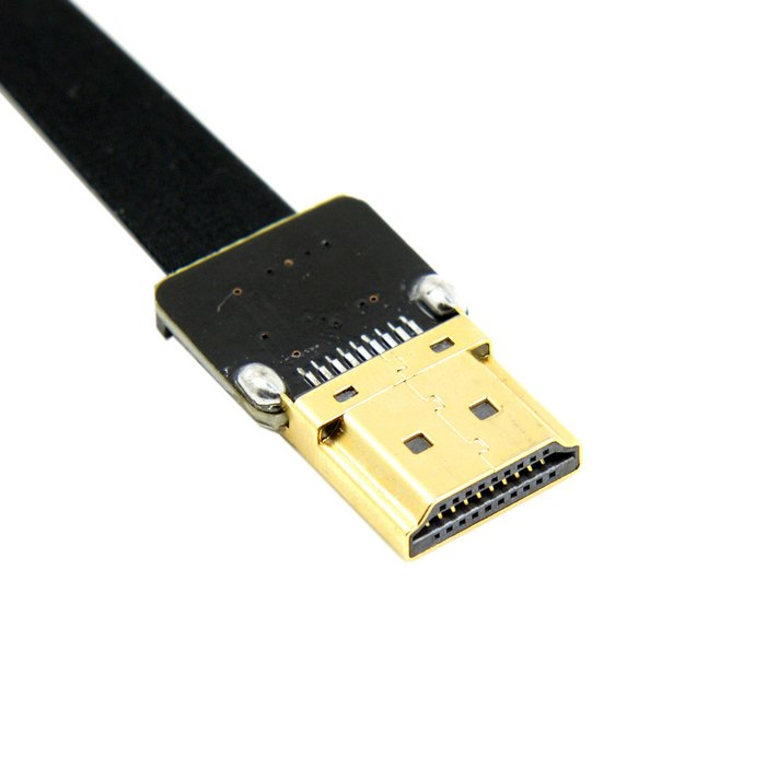 0 2M 0 5M FPV HDMI Type A Male Down Angled 90 Degree to HDMI Male HDTV FPC Flat Cable for Multicopter Aerial Photography in HDMI Cables from Consumer Electronics