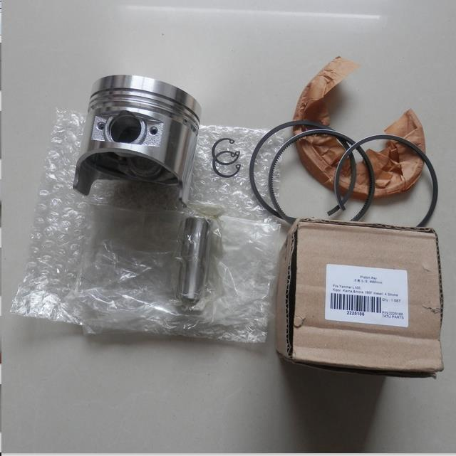 86MM PISTON ASSY FOR KAMA KIPOR &MORE 186F DIESEL TILLER CYLINDER  5KW GENERATOR KOLBEN ASSEMBLY W/ RING PIN CLIP REBUILD KIT