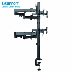 Image 2 - Six Arm LCD LED Monitor Stand Desk Mount Bracket Heavy Duty & Fully Adjustable 6 Screens up to 27