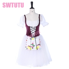 Professional Ballet Long tutu dress romantic ballet costume Adult Stage Costumes Custom BT9252