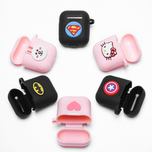 Earphone Cases For Apple AirPods 2 Soft Silicone Case Air Pods 1 2 Cute Cartoon airpods Case With Hooks Protective Cover 3d lucky rat cartoon bluetooth earphone case for airpods pro cute accessories protective cover for apple air pods 3 silicone