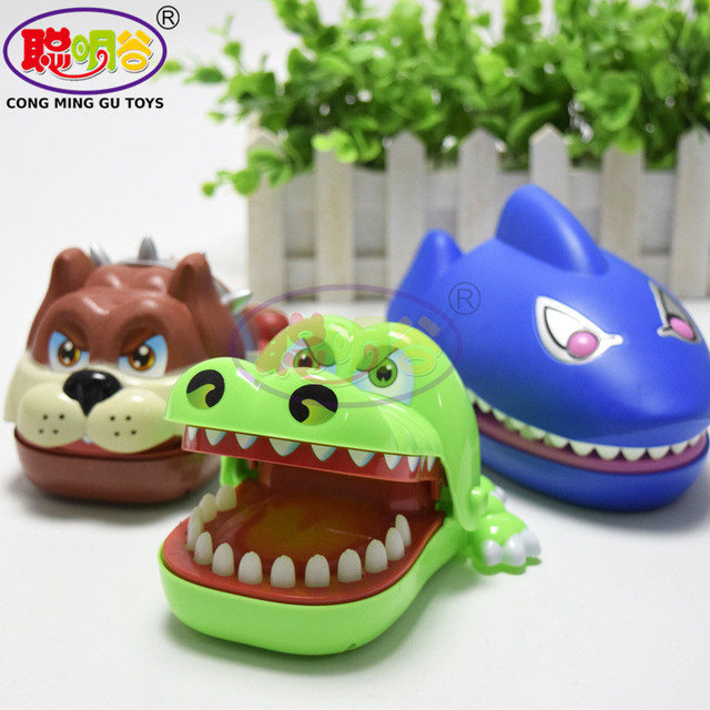 CongMingGu Large Bulldog Crocodile Shark Mouth Dentist Bite Finger Game Funny Novelty Gag Toy for Kids Children Play Fun