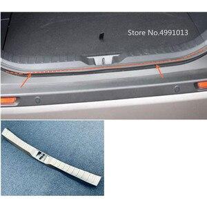 Image 1 - トヨタ RAV4 2019 2020 車内側リアバンパートリムステンレス鋼スカッフトランクプレートペダル 1 個