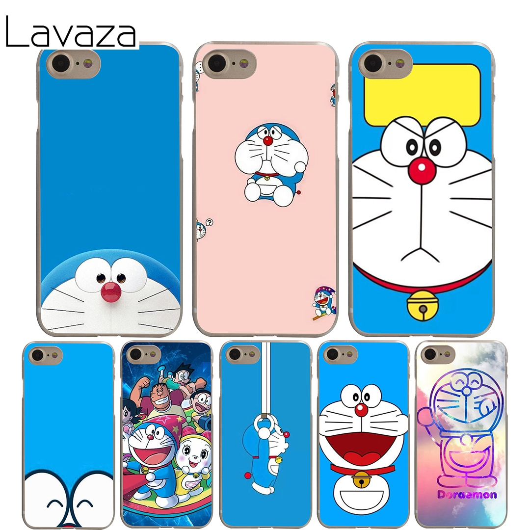 Lavaza Doraemon Cover Case for iPhone X 10 8 7 6 6S plus Cases for Apple 5 5S 5C SE 4 4S Coque Shell