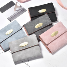 2019 Short Wallets Small Fashion Brand Leather Purse Ladies Card Bag For Women 2019 Clutch Female Purse Money Clip Wallet цена
