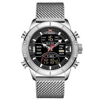 NAVIFORCE Watch Men Military Sport Quartz Watches Top Luxury Brand Men\'s Stainless Steel Waterproof LED Digital Male Clock Gift
