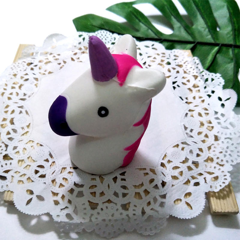 Unicorn Squishy Toy Kawaii Horse Antistress Toy Soft Slow Rising Jumbo Squeeze Toys For Kids Stress Relief Funny Novelty Gag