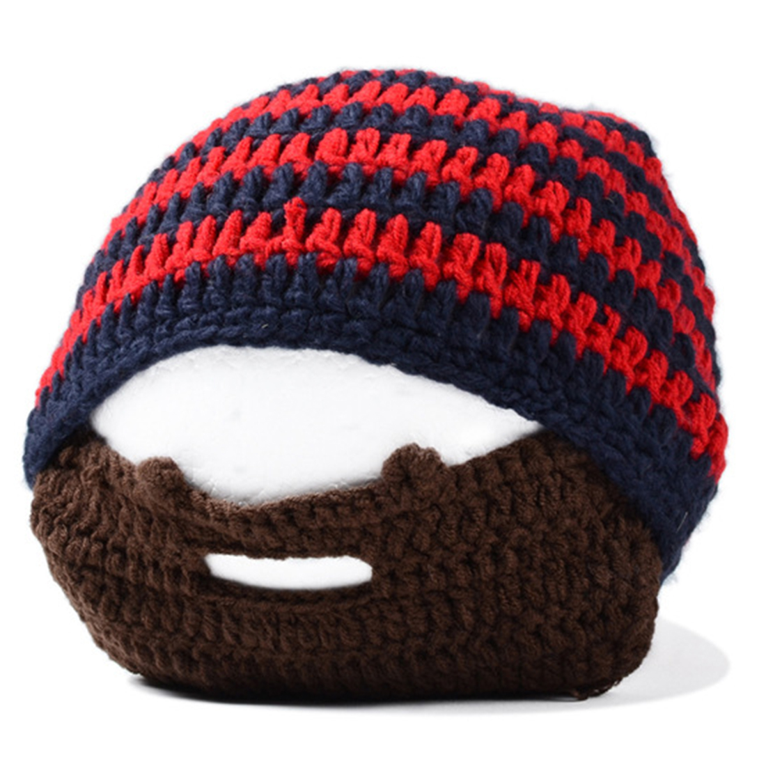 Handmade Knitted Crochet Beard Hat Bicycle Mask Ski Cap roman knight  octopus Cool Funny beanies Gift-in Skullies   Beanies from Apparel  Accessories on ... 71ecfc865e9