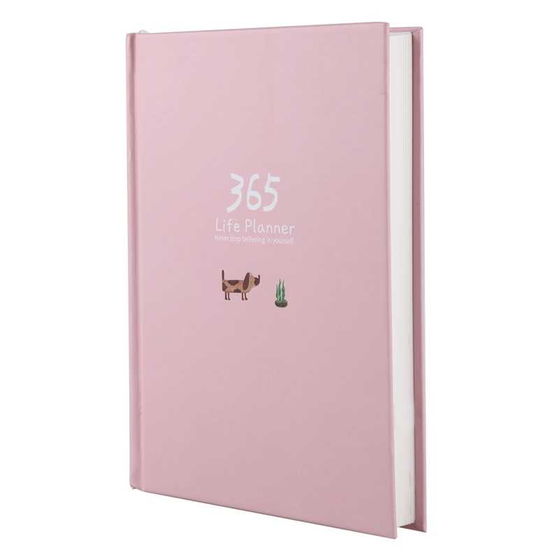 Creative Year Plan Notebook 365 Days Inner Page Monthly Daily Planner Diary Notebook
