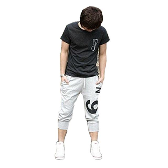 Sete-polegadas de lazer calças dos homens calça casual homens hip hop estudantes calcinha lazer harlan culatras masculino masculino