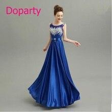 2016 Elegant Long Beautiful O neck Formal Mother of the Bride Blue Dubai Kaftan A line