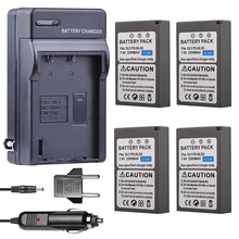 4x PS-BLS5 BLS-5 BLS5 BLS-50 Camera Battery + Car Charger for Olympus PEN E-PL2 E-PL5 E-PL6 E-PL7 E-PM2 OM-D E-M10 II Stylus 1