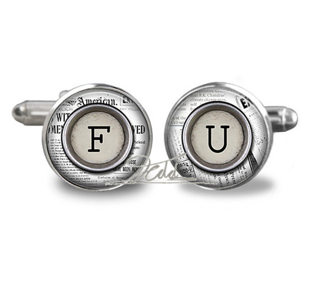 Monogram Cufflinks All Letters Available Father Gift Cufflinks Groom ...