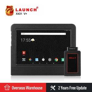 LAUNCH X431 V plus X431 V+ 10 Global Version Car Diagnostic-Tool OBD2 Scanner OBDII Bluetooth Wifi Automotive Tools ECU Coding