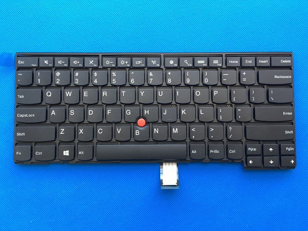 New Original for Lenovo ThinkPad L440 L450 T440 T440P T431S T440S T450 T450S T460 US English Keyboard No Backlit 04Y0824 04Y0862 new 14hd laptop lcd screen 30pin original for lenovo thinkpad t440 t440p t440s t431s led display 1600 900 04y1584 n140fge ea2