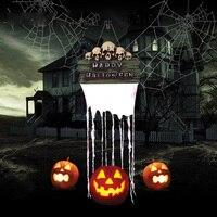 Halloween Haunted House Secret Room Bar Props Decoration Party Scene Devil Terror Indication House Flag Halloween Decorations