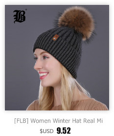 [FLB] Wholesale Real Mink Fur Pom Poms Knitted Hat Ball Beanies Winter Hat For Women Girl 'S Wool Hat Cotton Skullies Female Cap 19