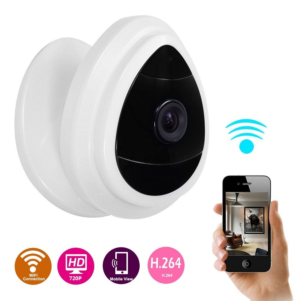 SecuPlug+ 720P HD WiFi Mini IP Network Security Camera Wireless Baby Monitor Surveillance Cam with Motion Detect & Email Alerts smarsecur wire free ip camera 720p hd no wire 6400mah 8 months battery security wifi wireless ip camera with battery