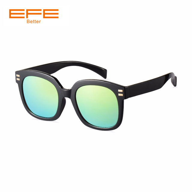 90dccdc498 EFE Square Sunglasses for Men Brand Designer Women Polarized Sunglasses  Coating Mirror Lens Sun Glasses With Box Shades
