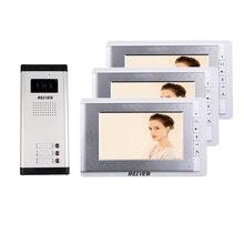 Visiophone avec écran couleur 7 pouces, système dinterphone vidéo de porte/sonnette pour 2/3/4 maisons, en Stock, livraison gratuite