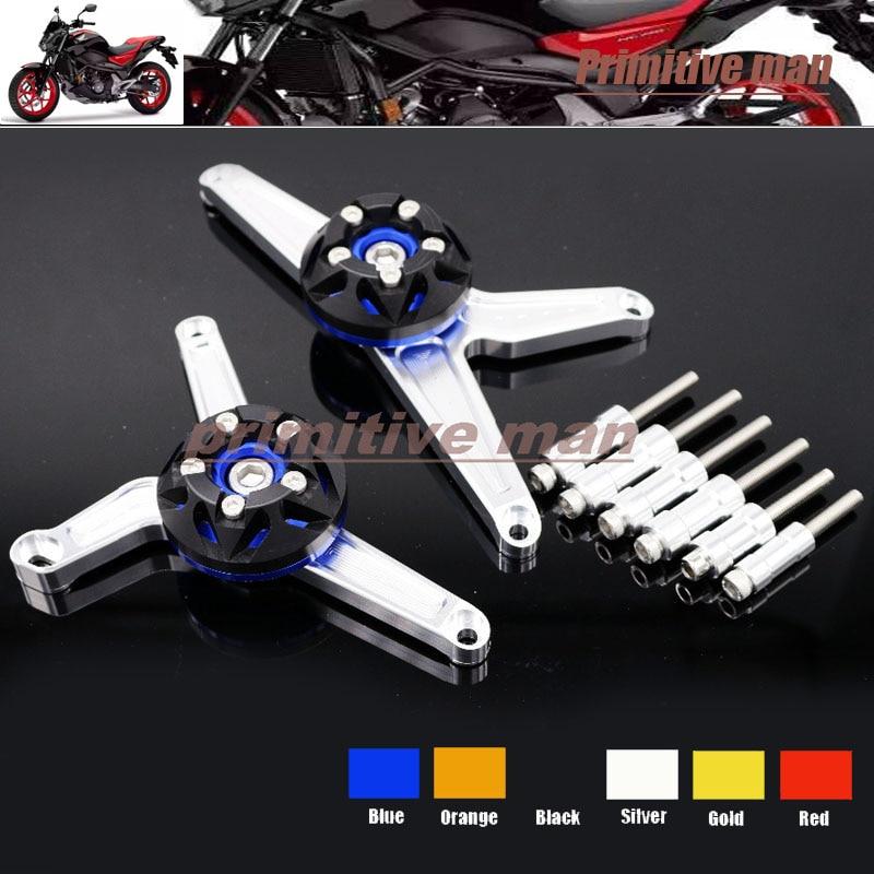 ФОТО For HONDA CB1000R 2008-2013 Motorcycle Stator Cover Slider Frame Protector Crash Blue