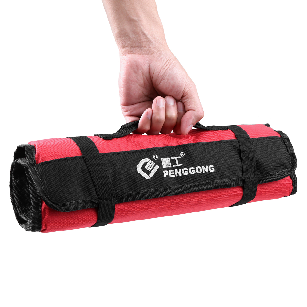 Waterproof Tool Bag Organizer Oxford Canvas Chisel Roll Rolling Pounch Wearable Repairing Handle Bag with Belt for Repair Tools optical instrument
