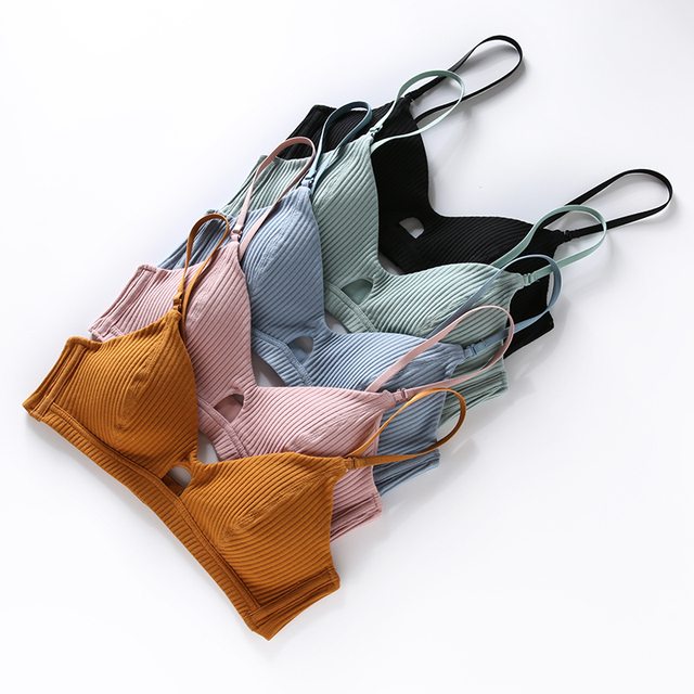 TERMEZY High Quality Cotton Underwear Set Fashion Striped Bra Set Noble Girl Lingerie Set Push Up Bra Sexy Bra And Panty Sets 2